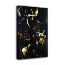 La peinture, les Sept œuvres de Miséricorde, le Caravage, impression sur toile avec ou sans cadre