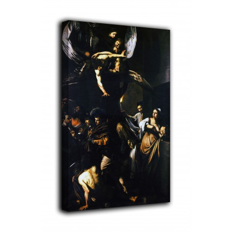 Painting the Seven works of Mercy - Caravaggio - print on canvas with or without frame
