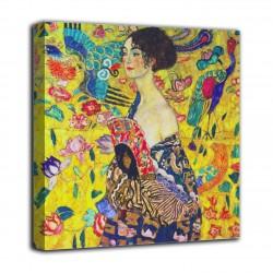 Rahmen, Dame mit fächer - Gustav Klimt - druck auf leinwand, leinwand mit oder ohne rahmen