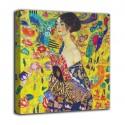Quadro Signora con ventaglio - Gustav Klimt - stampa su tela canvas con o senza telaio