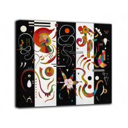 Quadro Striped - Vassily Kandinsky - stampa su tela canvas con o senza telaio