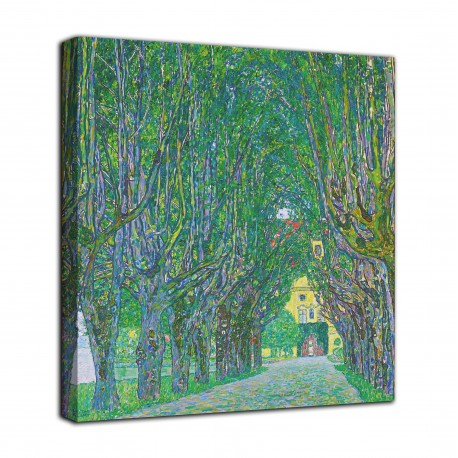 Picture the Avenue to the castle of Kammer - Gustav Klimt - print on canvas with or without frame
