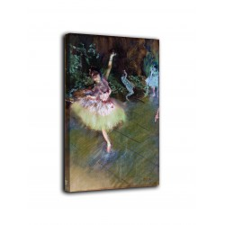 The framework of The star - Edgar Degas - print on canvas with or without frame