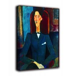 Rahmen-Porträt von Jean Cocteau - Modigliani - druck auf leinwand, leinwand mit oder ohne rahmen