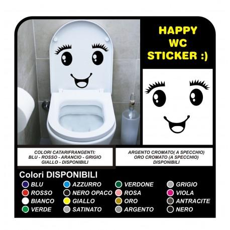 Adhesivo de baño cuarto de baño de agua a casa la copa de pegatinas calcomanías Ojo sonrisa pegatinas de pared