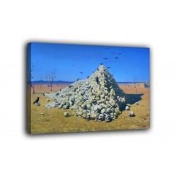 L'image comme L'Apothéose de la guerre - Vassili Vereshchagin - impression sur toile avec ou sans cadre