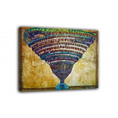 Cadre de l'abîme de L'Enfer - sandro Botticelli - impression sur toile avec ou sans cadre