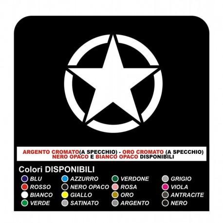 Sticker STAR RENEGADE US ARMY 30x30 cm star military 4X4