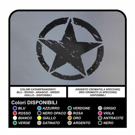 AUTOCOLLANT 25 cm-STAR pour hors route JEEP RENEGADE DÉFENSEUR VITARA RAV4 PAJERO ET les AUTRES VOITURES