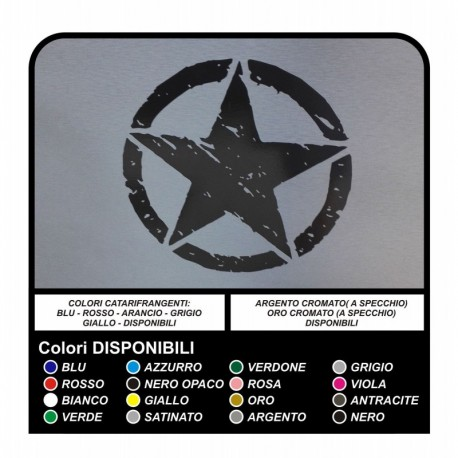 STICKER 25 cm-STAR for off-road JEEP RENEGADE DEFENDER VITARA RAV4 PAJERO AND OTHER CARS