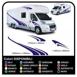 AUTOCARAVANA gráficos de vinilo pegatinas calcomanías de rayas caravana CARAVANA Autocaravana - gráficos 08c MAXI