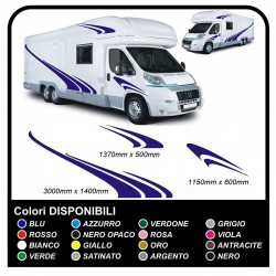 MOTORHOME graphics vinyl stickers decals stripes Set CAMPER VAN CARAVAN Motorhome - graphics 08c MAXI