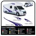 MOTORHOME graphics vinyl stickers decals stripes Set CAMPER VAN CARAVAN Motorhome - graphics 08c MAXI