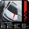 Strisce Adesive RACING GOLF Bonnet Stripes universali ottime per tutte le auto - fasce adesive cofano vw golf