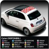 Stickers for FIAT 500 ABARTH strips roof roof chessboard chess sticker decal