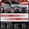 STICKERS FOR THE SIDES AND BUMPER FOR FIAT GRANDE PUNTO KIT SIDE