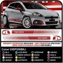 STICKERS FOR THE SIDES AND BUMPER FOR FIAT GRANDE PUNTO ABARTH KIT SIDE