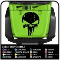sticker hood Skull punisher car and off-road