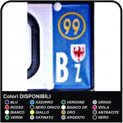 STICKERS, the license Plate number Bz - YEAR AND/OR the PROVINCE REFLECTIVE (Inclusive of a shield BZ)