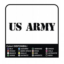 2 Stickers US Army Car Bumper Stickers Vinyl cm40x4