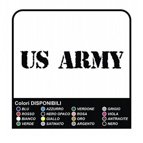 2 Adesivi US Army Auto Paraurti Adesivi Vinile cm40x4