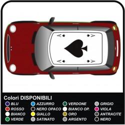 Autocollants pour FIAT 500 ABARTH bandes pour la FIAT 500 de toit en toit assetto corse - NOUVELLE