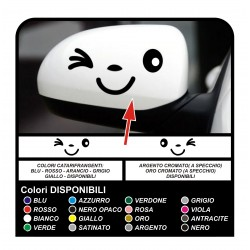 Stickers smiley face mirror self-adhesive smile wink decals stickers