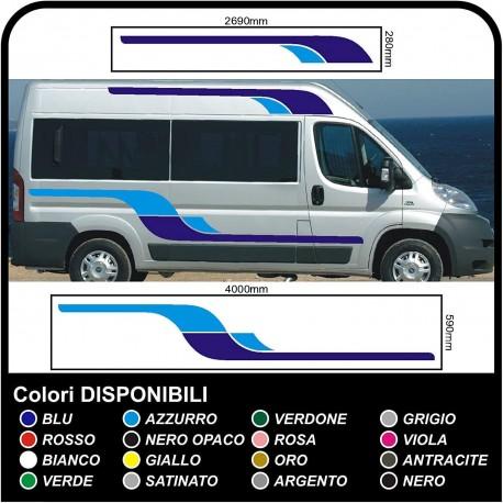 stickers for MOTORHOME graphics vinyl stickers decals stripes Set CAMPER VAN CARAVAN Motorhome - graphics 12