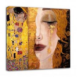 Quadro Klimt - Lacrime Dorate di Freyja e Bacio - KLIMT  Quadro stampa su tela canvas con o senza telaio