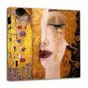 Das Klimt-Gerüst - Freyas goldene Tränen und Kuss - KLIMT Bild gedruckt auf Leinwand mit oder ohne Rahmen