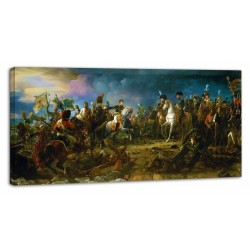 Painting Napoleon Bonaparte La bataille d'Austerlitz - 2 decembre 1805 prints on canvas with or without frame