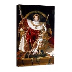 Quadro Napoleone Bonaparte sul trono imperiale  - Ingres - stampa su tela canvas con o senza telaio
