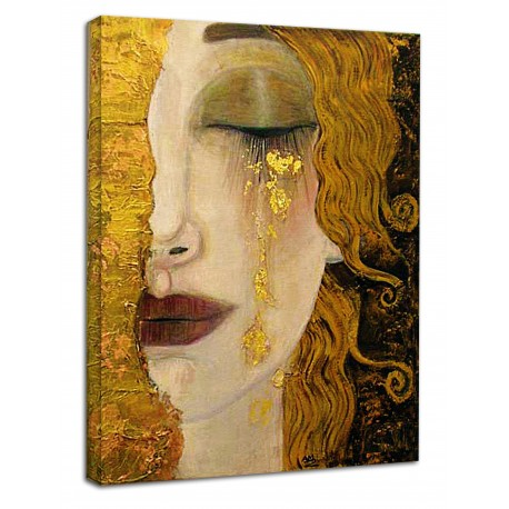 The framework Klimt - Freyja's Golden Tears and Kiss - KLIMT Picture print on canvas with or without frame