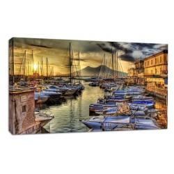 Rahmen Golf von Neapel - druck auf leinwand, leinwand mit oder ohne