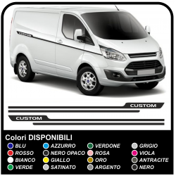 Adhesives TRANSIT M-SPORT Side Van graphics van stickers decals stripes ford transit custom turneo