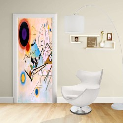 Adhesive door Design - Kandinsky COMPOSITION - VIII- KANDINSKYJ -Decoration adhesive for doors and home furniture