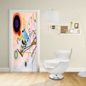 Adesivo Design porta - Kandinsky COMPOSITION VIII - KANDINSKYJ  -Decorazione adesiva per porte arredo casa