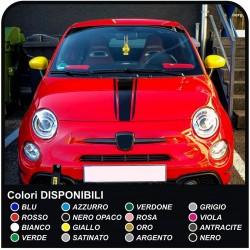 Adesivi per FIAT 500 KIT fasce cofano strisce adesivi per cofano fiat 500 mini ed altre vetture