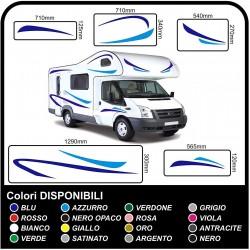 autocollants pour MOTORHOME graphiques de vinyle autocollants décalques rayures camping-car, CARAVANE, Motorhome - graphique 02