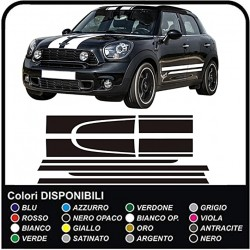 MINI Countryman Seiten aufkleber Motorhaube Dachkofferraum und Seitenstreifen MINI Grafik COOPER COUNTRYMAN - Alle Modelle