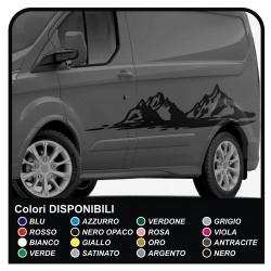 stickers TRANSIT M-SPORT Side Van graphics van decals stripes ford transit custom minibus and motorhome