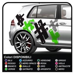 Adhésif voiture camouflage Camouflage kit de décoration de voiture US ARMY camouflage effet universel Autocollant de décoration