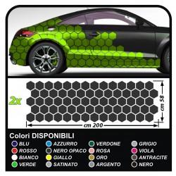 Aufkleber kotflügel auto Sechsecke komplett-Set, Camouflage-auto Car Aufkleber racing Sticker Dekoration fahrzeugseite SPORT