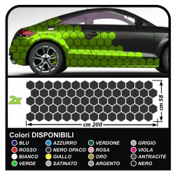 Stickers sides-car Hexagons complete Set Camouflage for car auto Decal racing Sticker Decoration, the sides SPORT