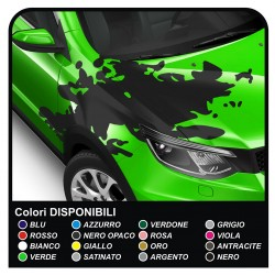 Stickers for the hood drive universal for all the car Stickers Rally Stripes hood car