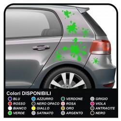 Klebestreifen RACING GOLF-Bonnet Stripes-universal-ideal für alle pkw - bänder, selbstklebende motorhaube vw golf