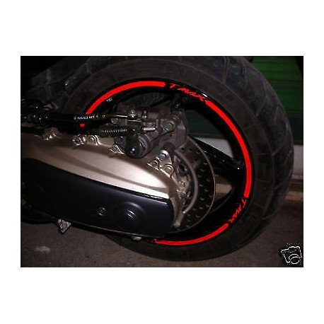 stickers ruote moto strisce cerchi YAMAHA TMAX 500 tmax 530 adesivi cerchi t max