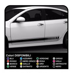 La raya de la etiqueta Engomada de Audi Lado de la etiqueta Engomada para el audi a1 a3 a4 Tiras de cinta Adhesiva