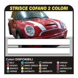 MINI COOPER Adhesive Strips Bonnet Stripes strips stickers bonnet, two-tone