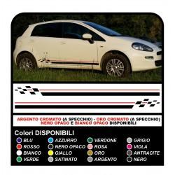 Autocollants Fiat Grande Punto bandes adhésives Point de rayure point d'échecs